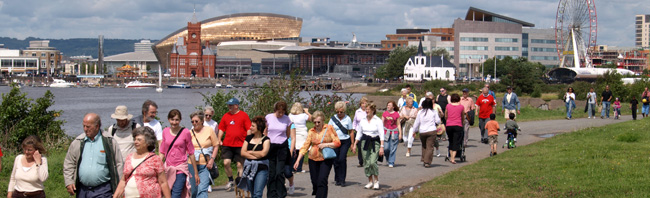 Self guided walks - Cardiff Barrage as part of the Cardiff Walking Festival