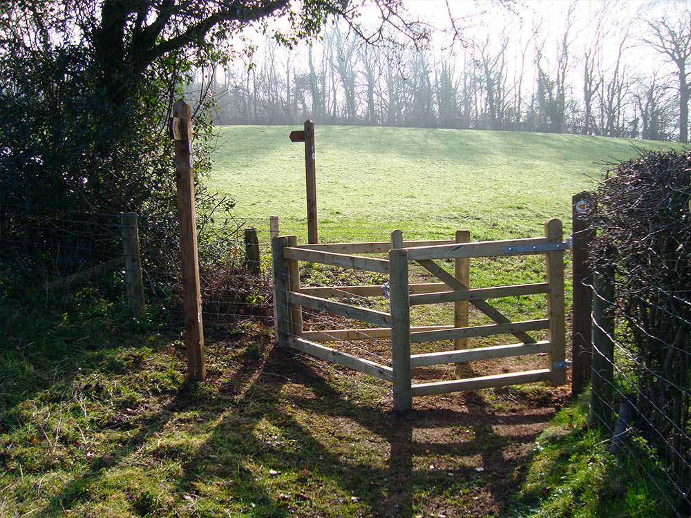 A gate on the Pentyrch trail