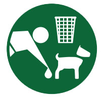 Clear up after your dog and dispose of in waste bins